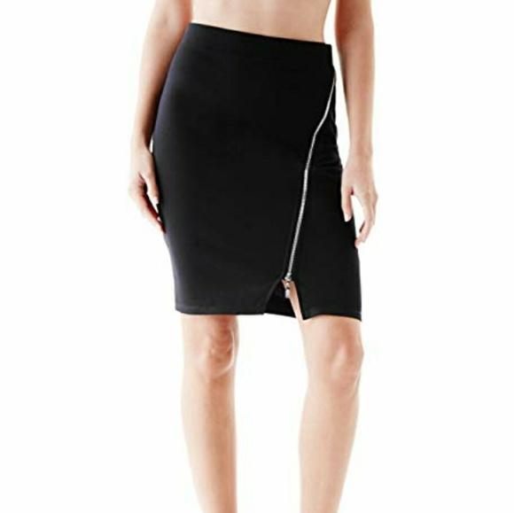 Guess Dresses & Skirts - NWT GUESS TANIA PONTE MIDI SKIRT JET BLACK